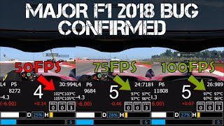 F1 2018 BUG CONFIRMED - Higher FPS Equals Lower Tyre Temps!
