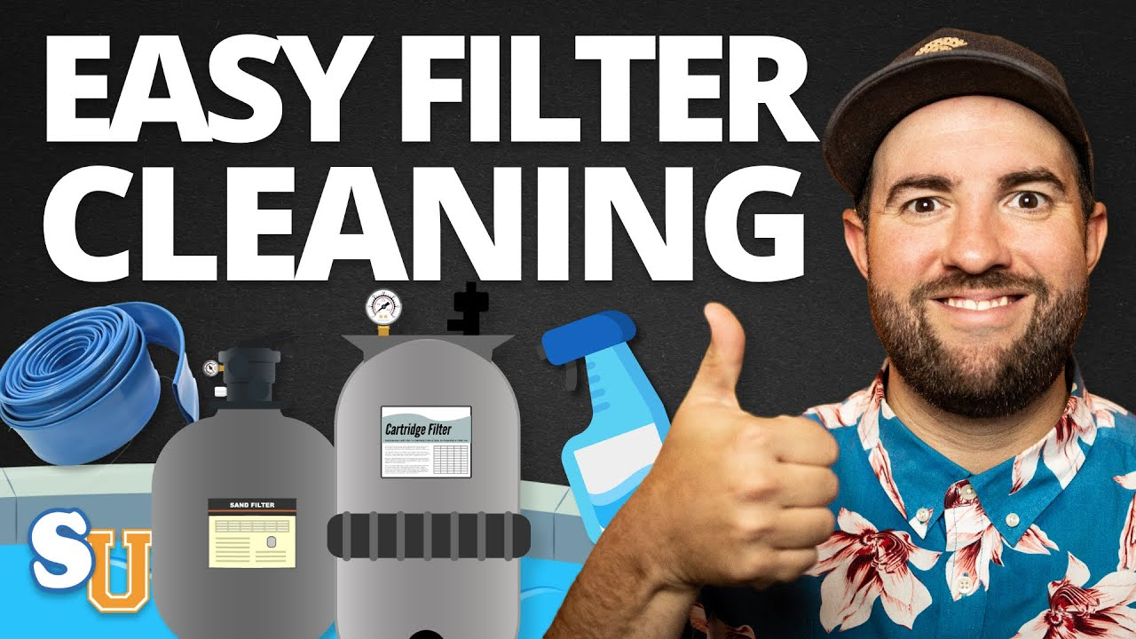 How To Clean Your POOL FILTER (Cartridge, Sand, D.E.)   Swim University