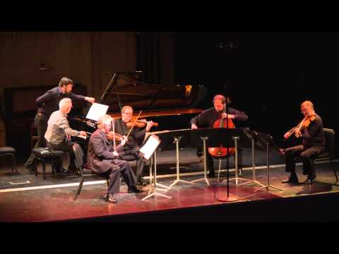 Hugh Tinney with the Vanbrugh String Quartet. C. S. L. Parker Piano Quintet V