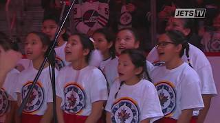 Canadian Anthem Sung in Ojibwe at Winnipeg Jets Game