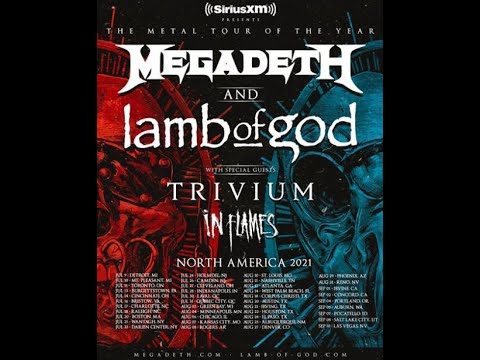 Metal Tour of the Year rescheduled 2021 dates Megadeth, Lamb of God, Trivium & In Flames