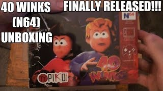 40 Winks - N64 - Unboxing + Gameplay: First 2 levels - Uncancelled game