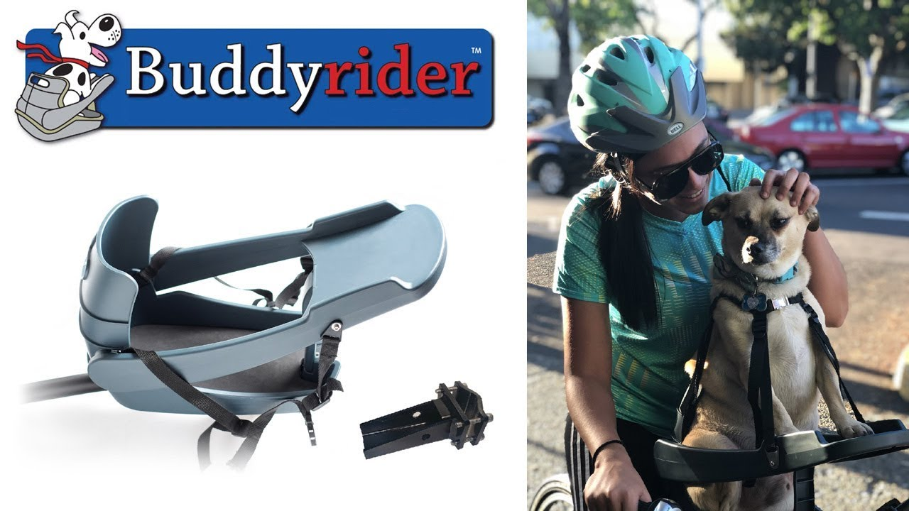 Buddyrider Dog Bicycle Seat Carrier Attachment More Stable Than