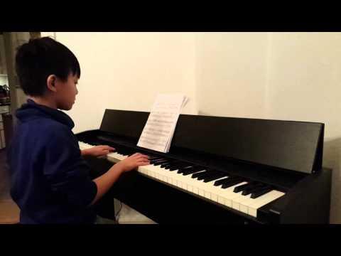 Michael spiller klaver minuet in B flat af Bach