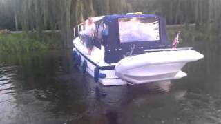 boat crashing high speed into dock