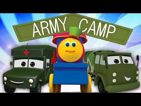 บ๊อบรถไฟ | เยี่ยมชมค่ายทหารบก | ยานพาหนะทางทหารสำหรับเด็ก | Visit to Army Camp | Kids Tv Thailand