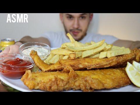 ASMR GIANT FISH & CHIPS | MUKBANG *REAL EATING SOUNDS*