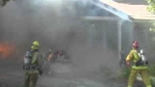 garage fire -elsinore battalion -riverside county fire department
