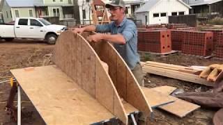 building a brick arch part 1   building the form