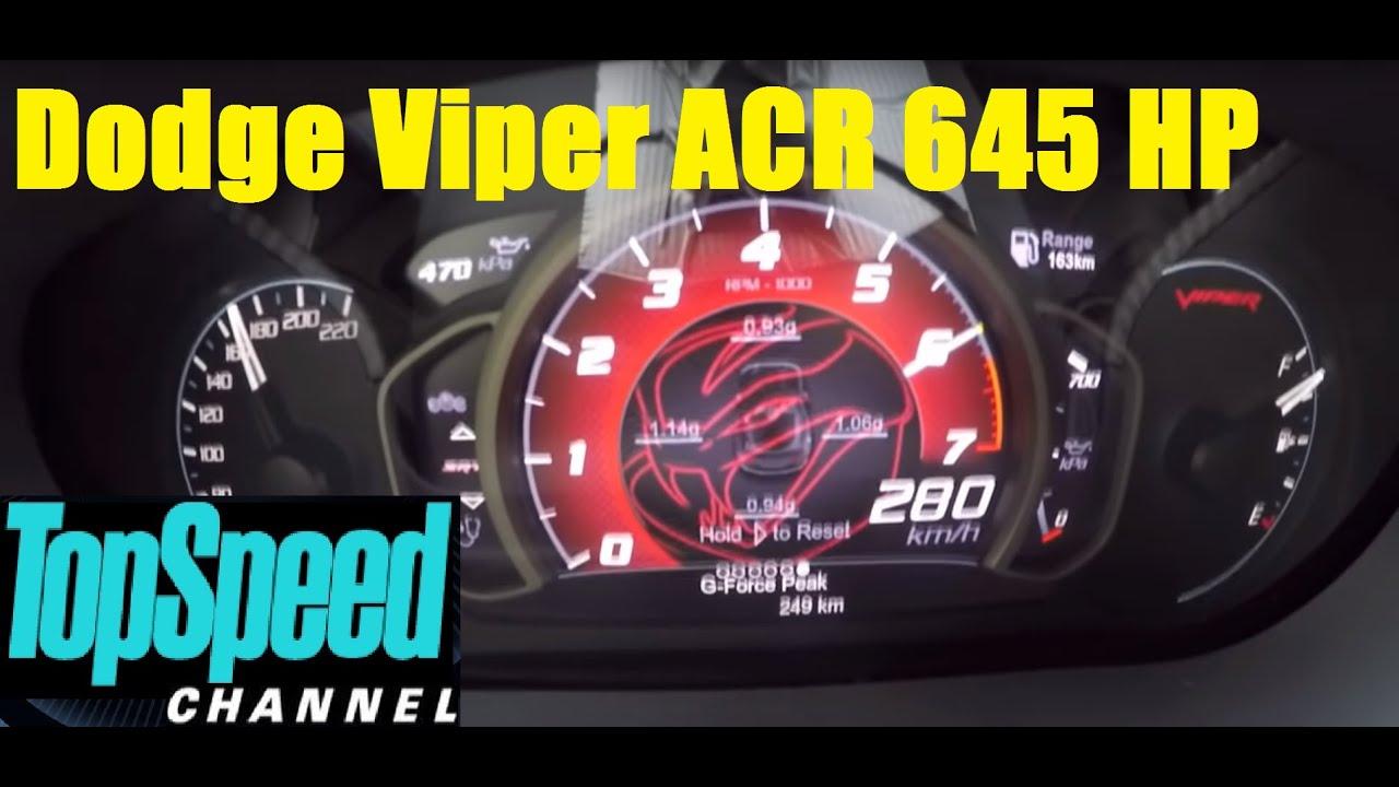 2016 Dodge Viper ACR V-10 8.4-liter 645 HP Acceleration 120-280 km/h ...