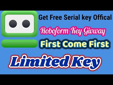How To Get FREE License Serial Key For RoboForm Offical Key