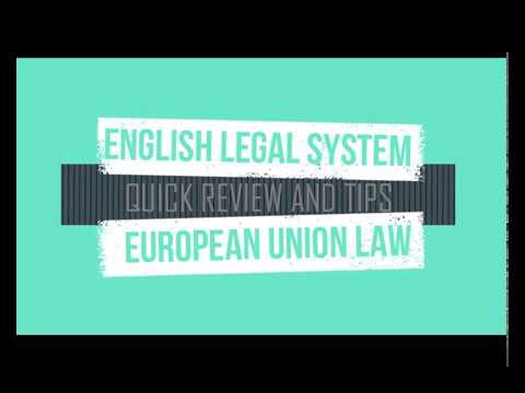 QLTS: English Legal System and EU Law : Quick Review and Tips