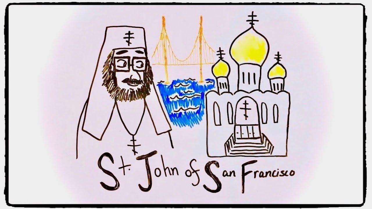 ST  JOHN OF SAN FRANCISCO   Draw the Life of a Saint