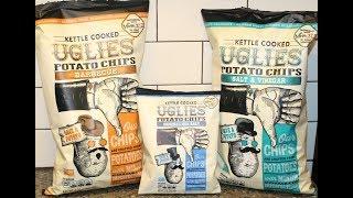 Kettle Cooked Uglies Potato Chips: Barbecue, Original Sea Salt, Salt & Vinegar Review