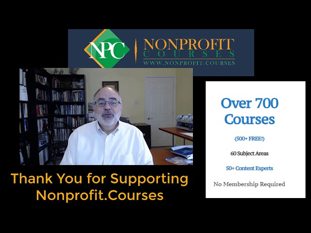 Thank YOU! From Nonprofit.Courses