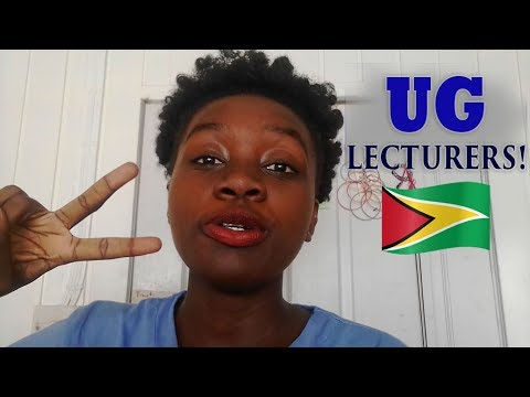 Types of UNIVERSITY of GUYANA LECTURERS Pt 2!