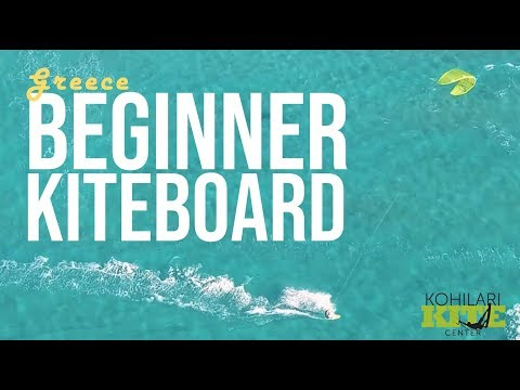 Learning to Kiteboard Greece - Kohilari Beach Kite Center
