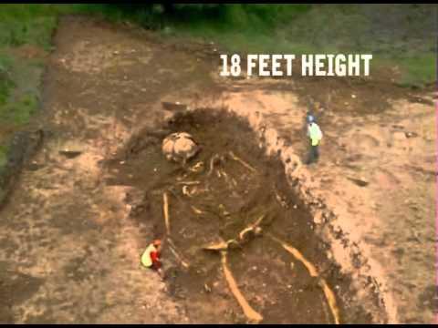 giant human skeletons was found in india - youtube, Skeleton