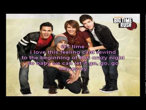 Big Time Rush - SuperStar (Lyrics on Screen)