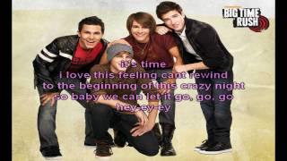 Big Time Rush - SuperStar (Lyrics on Screen)