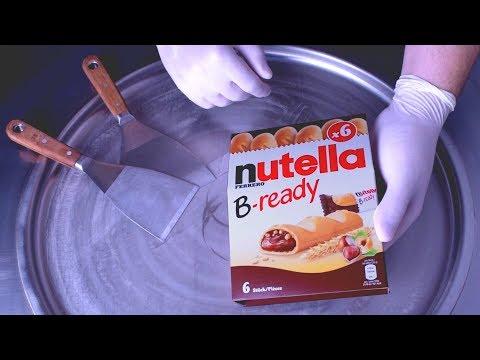 ICE CREAM ROLLS   nutella B-ready & nutella &GO! Ice Cream Rolls - nutella chocolate ice cream rolls