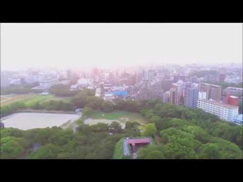 Ohori park from the sky, fukuoka-Japan