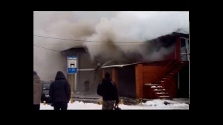 Пожар возле автовокзала г. Сарны (11.01.2016)