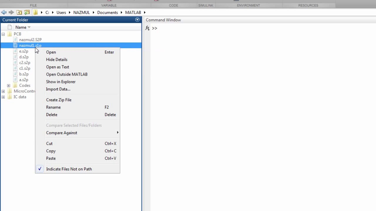 How to Plot SnP(Touchstone) File in MATLAB