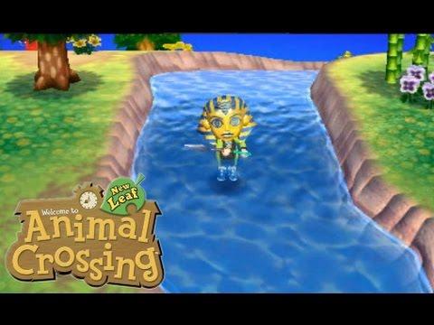 Animal crossing new leaf river fluss glitch walking for Animal crossing new leaf arredamento