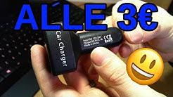 Alle 3€ autoon 4 in 1 USB-Laturi Kiinasta 🇨🇳