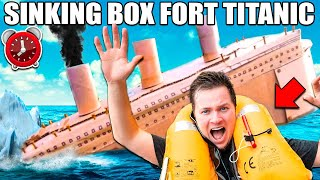 BOX FORT TITANIC SINKING! - 24 Hour Box Fort City Challenge Day 3