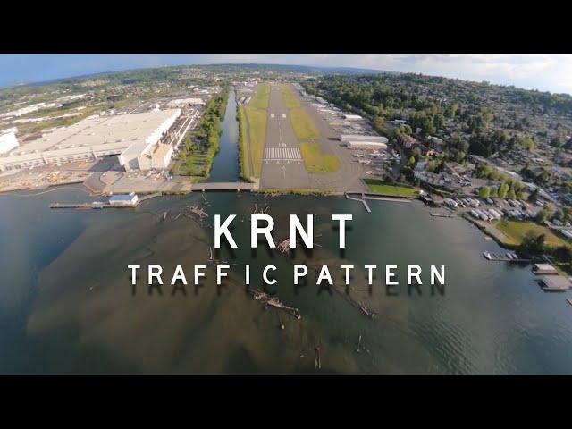The most beautiful traffic pattern scenery ever? (KRNT)  [5K Footage]