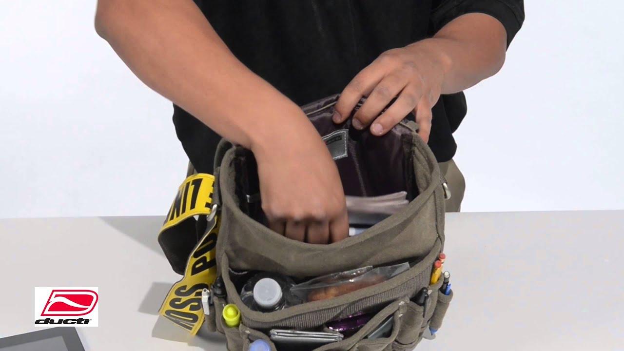 42bcc6d1bae Ducti Standard Utility Messenger Bags -Police Line, Danger, High Voltage  (10308) - YouTube