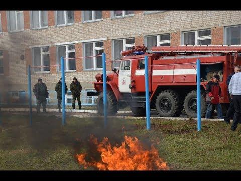 Экстренная пожарная эвакуация в школе. Учения 2017.