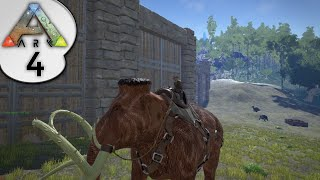 ARK: Survival Evolved - MAMMOTH AND T-REX RESOURCE GATHERING - S2E4 - Let