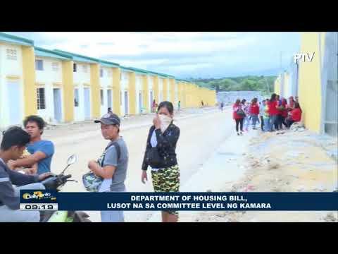Department of Housing Bill, lusot na sa committee level ng Kamara