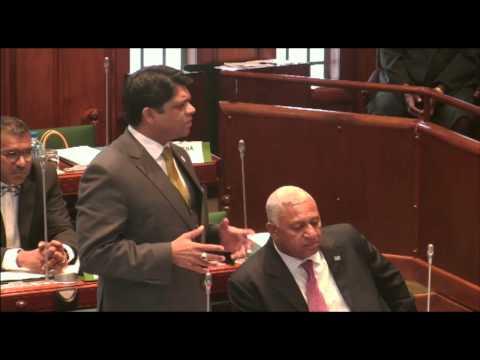 Fijian Minister for Finance, Hon. Aiyaz Sayed-Khaiyum responds to question