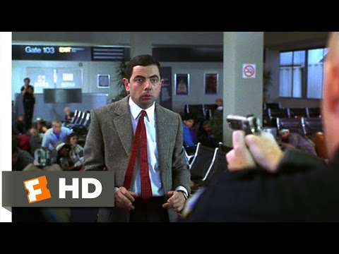 Bean (3/12) Movie CLIP - Airport Police Chase (1997) HD