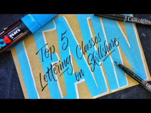 My TOP 5 LETTERING Classes on Skillshare