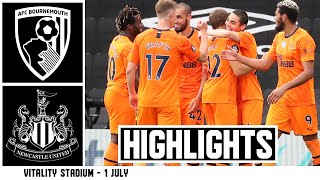 AFC Bournemouth 1 Newcastle United 4 Premier League Highlights