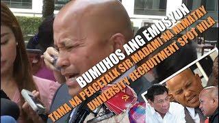 Senator BATO Galit at ayaw na sa Kalokohang PEACETALK