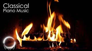 Classical Piano Music \u0026 Fireplace 247 - Mozart Chopin Beethoven Bach Grieg Satie Schumann