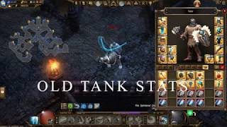 Drakensang Online | Tader | Old Tank and new Tank Stats | Crafting Cube Set | Werian