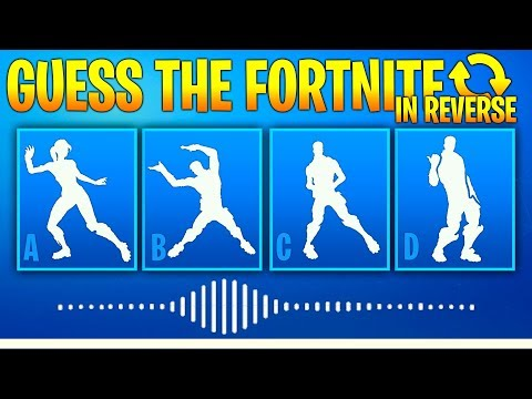 Guess The Fortnite Dance Name By The Sound In Reverse - Music #3 - Fortnite Challenge