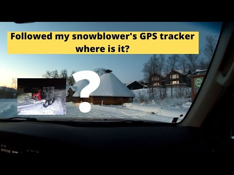 Stolen Honda snowblower with GPS tracking lets go get it!