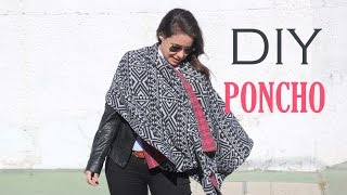 DIY Poncho Reversible