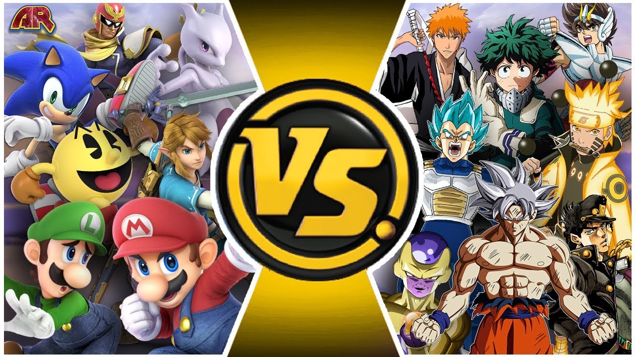 SMASH ULTIMATE vs JUMP FORCE! Total War! (Mario, Sonic vs