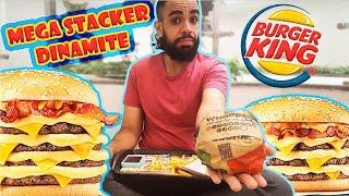 Experimentando: Mega Stacker Dinamite do Burger King| Colornicornio