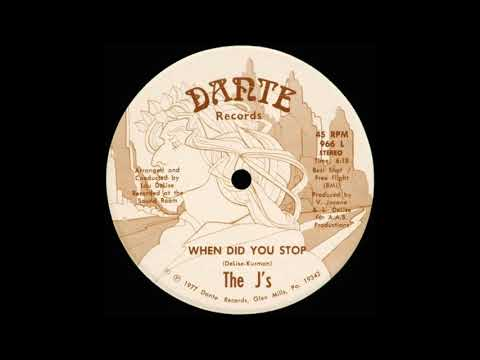 "THE J's: ""WHEN DID YOU STOP"" (Al Kent Disco Mix)"