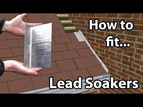 How to fit Lead Soakers - Lead soakers for a Wall or Chimney stacks